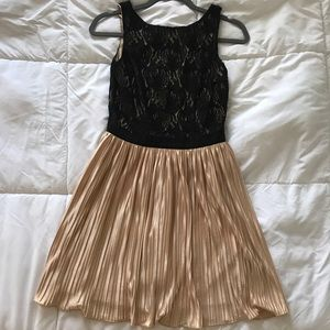 Black Lace Dress with Blush/Nude Skirt